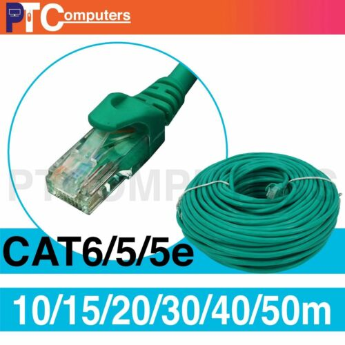 15m 20m 30m 40m 50m Cat6 RJ45 Ethernet Network Cable Cord10/100/1000 Green