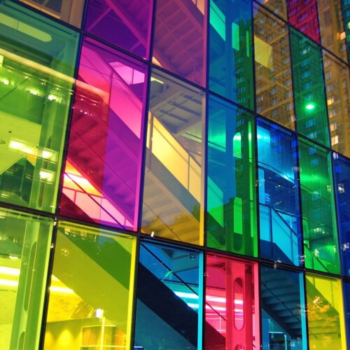 TRANSPARENT COLOURED WINDOW FILM STAINED GLASS SELF ADHESIVE VINYL FABLON <br/> 17 COLOUR OPTIONS**CHOICE OF SIZES**FAST FREE DELIVERY
