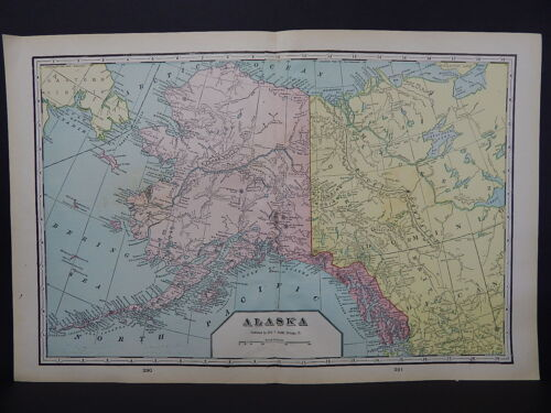 Alaska 1901 State Map, George F. Cram Double Page W18#13