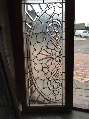 Sg 366 Amazing Arch Jeweled Beveled Glass Transom Window