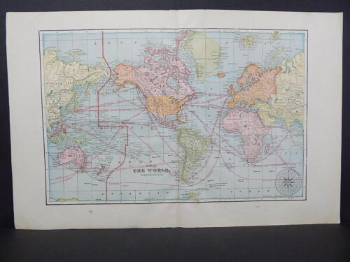 Map of the World, 1899 George F. Cram W18#54