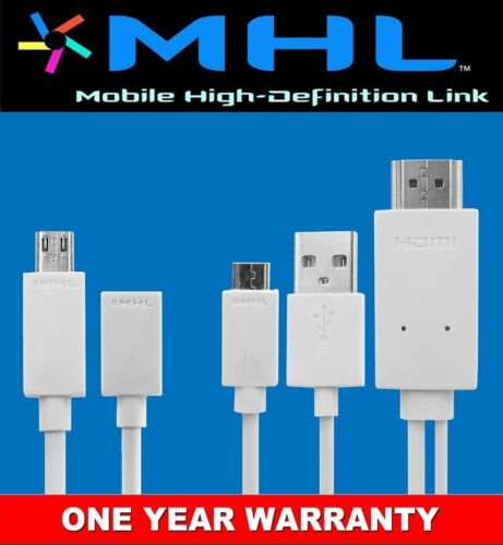 HTC LG SONY Samsung Galaxy S1 2 3 4 Note2 MHL MicroB USB to HDMI HDTV Cable