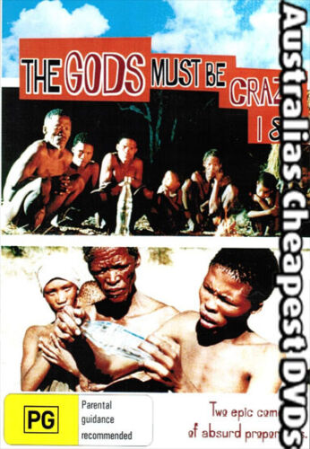 The Gods Must Be Crazy 1 & 2  DVD NEW, FREE POSTAGE WITHIN AUSTRALIA REGION  ALL