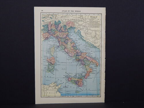 Small Maps, c. 1910, Double Sided, Asia Africa Europe S2#03 Italy