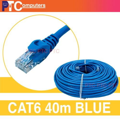 Cat6/Cat 6 40m UTP Ethernet LAN Network Cable Cord Patch Lead TV Box/PS4/XBOX