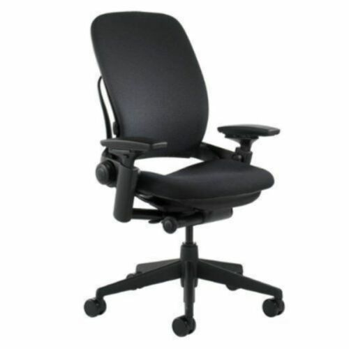 """Steelcase Leap V2 Chair,  -Open Box- Fully Loaded Black Fabric  <br/> 10 Year Warranty with Madison Seating """"Free Return Ship"""