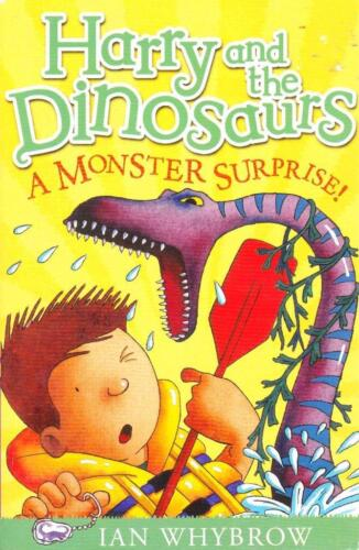 HARRY AND THE DINOSAURS - A MONSTER SURPRISE - IAN WHYBROW ALMOST NEW PAPERBACK