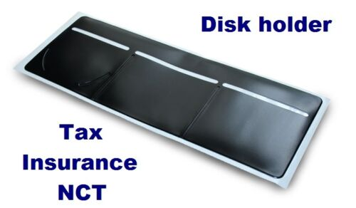 New Black Windscreen Tax, Insurance, NCT Disc Holder for Cars Vans Taxi