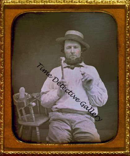 Daguerreotype Image of a Carpenter - Historic Photo Print