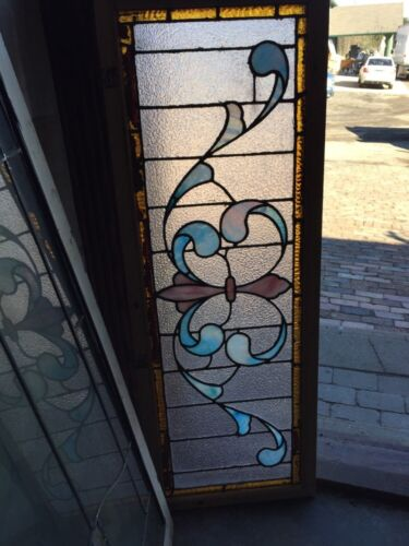 Sg 506 Antique Fluer De Lis Stainglass Window Transom