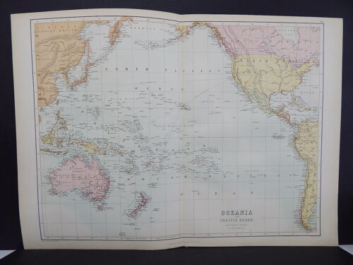 Black's 1876 Atlas, Oceania and the Pacific Ocean, Double Page Map R7#75
