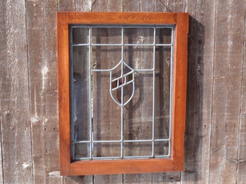 1920'S STAINED GLASS & LEADED ENGLISH WINDOW