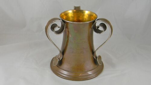 Sterling & Other Metals Hammered Copper Silver Presentation Cup Tyg 1902