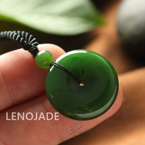 100% Natural Chinese XinJiang Hetian Jade Buckle Pendant Nephrite Hand Carved