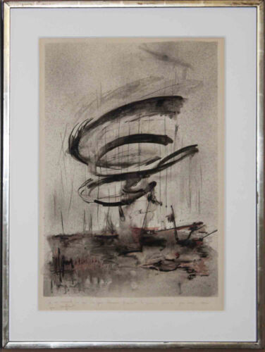 Contemporary Abstract Artist Thina Gora, Original Signed Watercolor and ink