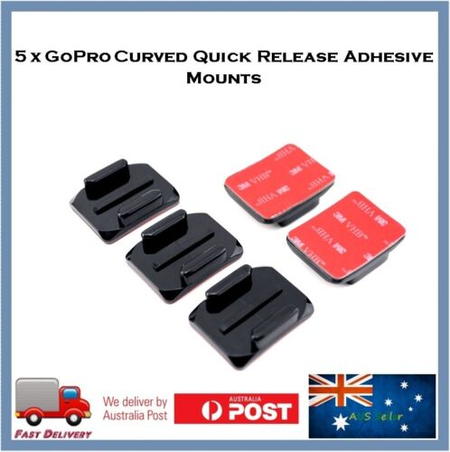 5 X Curved 3M Adhesive Sticky Mount For GoPro Hero 8 / 7 /6 /5 Sessions 4 Go Pro