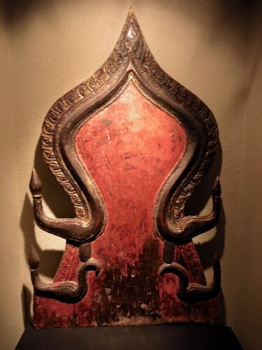 Asian Antique ~ Thai Panel for Buddha Figure ~ Buddhist 19th Thailand