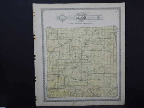 Wisconsin, Green County Map, 1918 Adams & York Townships, Double Sided #1