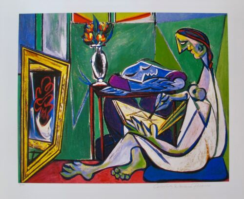 """Pablo Picasso WOMAN DRAWING Estate Signed Limited Edition Art Giclee 20"""" x 26"""""""