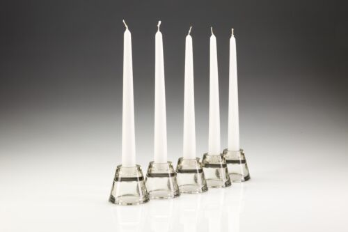 50 x 25cm White Tapered Dinner Candles. High Quality. Non-drip, high quality.