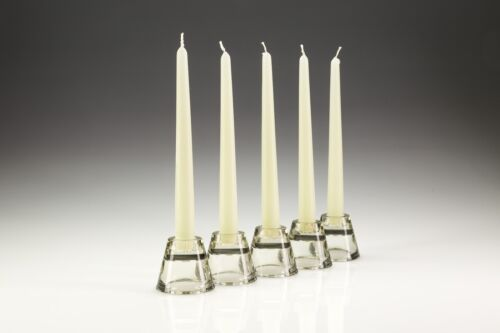 200 x 25cm Ivory/Cream Tapered Dinner Candles. High Quality wax. Gala candles.