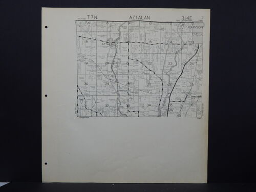 Wisconsin Jefferson County Map 1941 Aztalan Township Y16#19