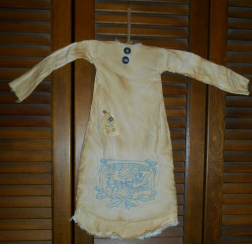 Primitive Grungy Decor SLEIGH RIDE NIGHTSHIRT, Winter, Christmas, Country