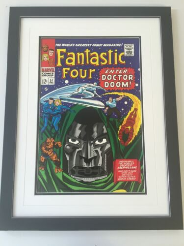 Framed Classic Marvel Comic Cover Posters - Fantastic Four
