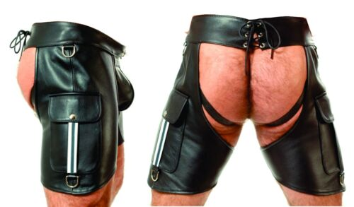 NEW LEATHER CHAPS,LEDER CHAPS/LEATHER PANTS,LEATHER SHORTS/BIKER TROUSERS