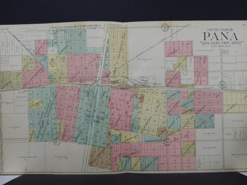 Illinois, Christian County Map, 1911 City of Pana, Two Maps L18#09