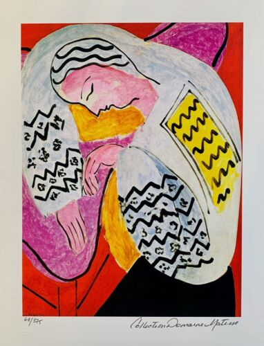"""HENRI MATISSE """"THE DREAM"""" Estate Signed & Stamped Limited Edition Small Giclee"""