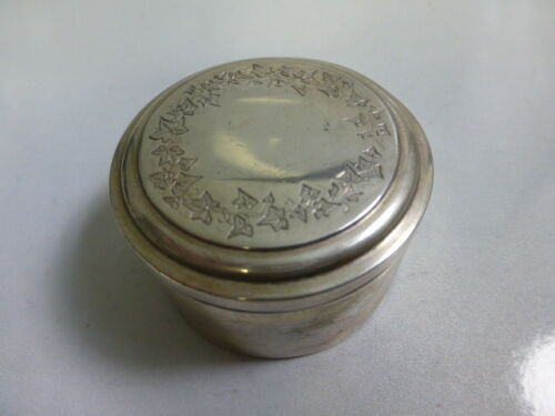 Antique 1868 Munich, Germany 800 Silver Dresser Box with Gold Wash Interior