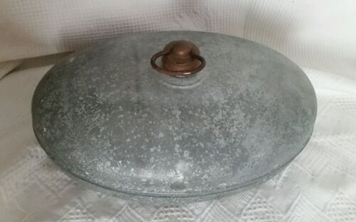 Vintage Antique Bed Foot Warmer Galvanized Metal  Buggy Old Amish Oval