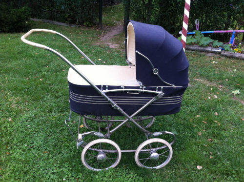 Vtg 50's Prim Wonda Chair like Baby Carriage Buggy Stroller large wheels Doll