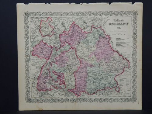 Colton's Maps, 1855, Authentic  Germany  R8#44