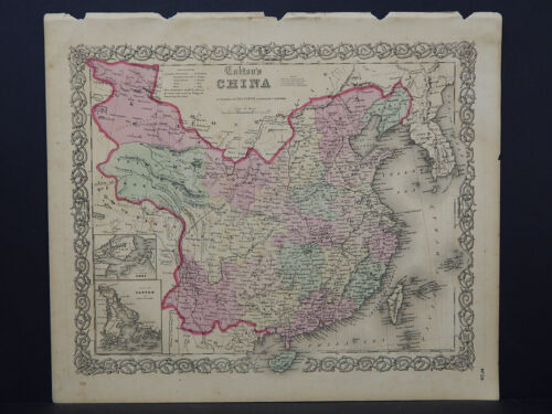 Colton's Maps, 1855, Authentic  China  R8#37