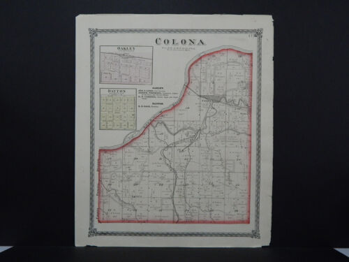 Illinois, Henry County Map, 1874 Township of Colona L16#23