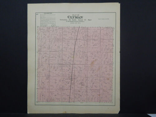 Wisconsin, Dodge County Map, 1890 Township of Clyman J20#83
