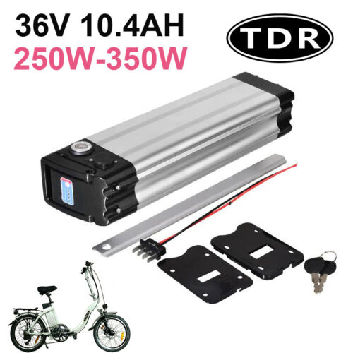 36v10ah Silver Fish Electric Bike eBike Bicycle Lithium Ion Li-Ion Battery <br/> For 200W 250W 300W Electric Scooter Bike Bicycle