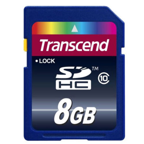 Transcend 8GB Class 10 SDHC Flash Memory Card 8 GB SD Brand New