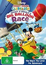 Mickey Mouse Clubhouse: Mickey and Donald's Big Balloon Race NEW DVD Region 4 AU