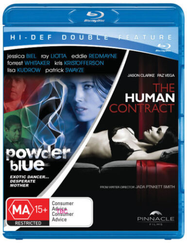 Powder Blue / The Human Contract (Blu-ray Double Thriller) * blu-ray * NEW