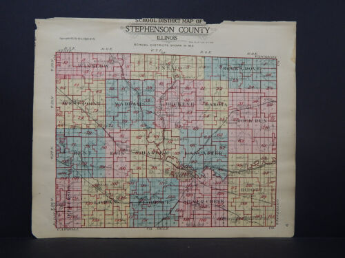 Illinois, Stephenson County Map, 1913 School District Map P1#41
