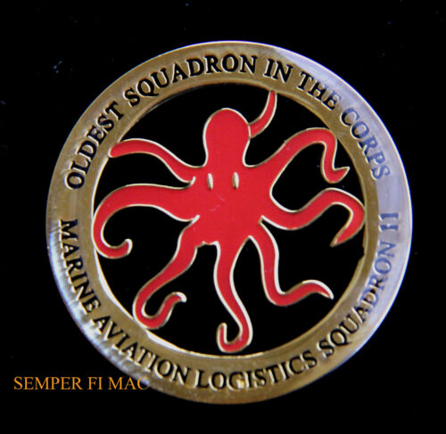 MALS11 DEVIL FISH OLDEST SQUADRON IN THE CORPS OCTOPUS CHALLENGE COIN US MARINESMarine Corps - 66531