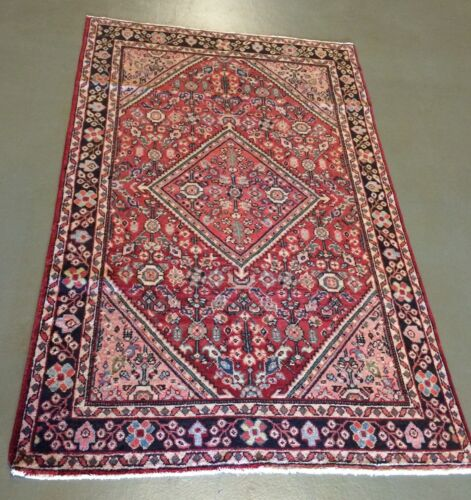 beautiful hand knotted 100% wool mahal persian oriental rug 4'1 x 6'6