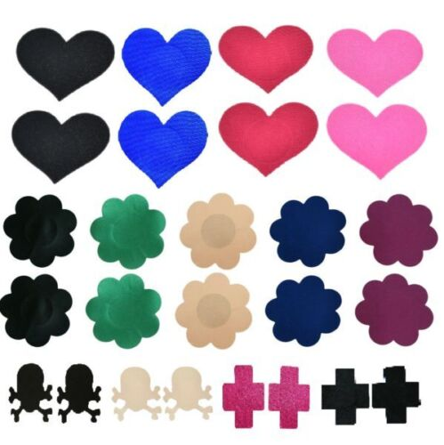 Breast Nipple Cover Flower Petal/ Heart/ Cross/ Skull Crossbones Pasties Bra Pad