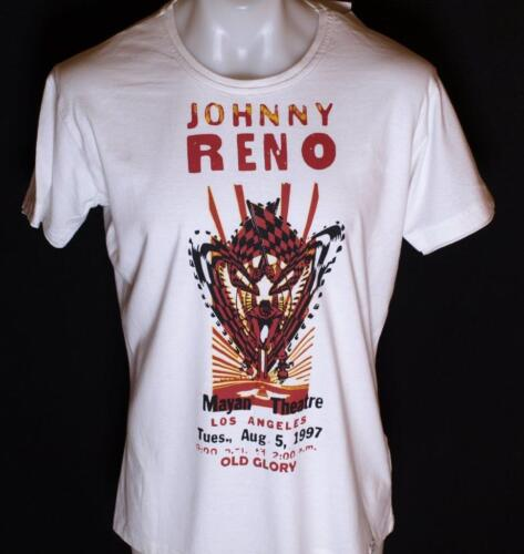 Bnwt Authentic Men's Old Glory T Shirt Johnny Reno Medium Large White Embossed