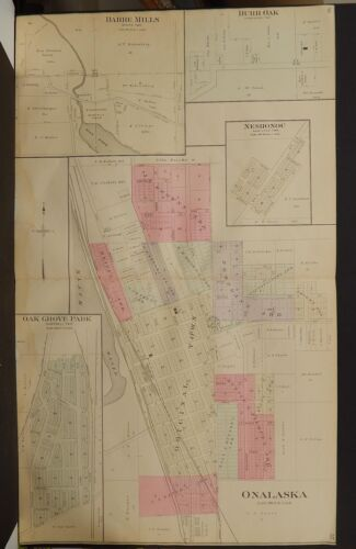 Wisconsin, La Crosse County Map, 1906 Onalaska, Burr, Oak, Barre Mills P3#48
