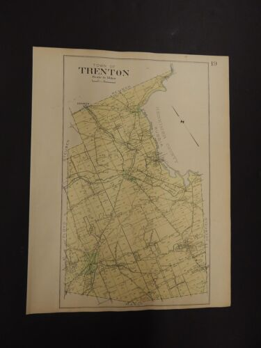 New York, Oneida County Map, 1907 Town of Trenton R3#18