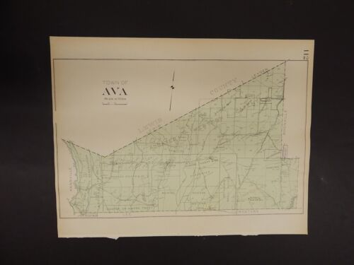 New York, Oneida County Map, 1907 Town of Ava R3#25